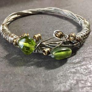 Jewelry - Handmade bracelet made w/recycled guitar strings🖤